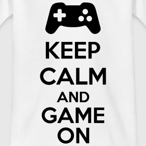 Keep Calm And Game On Shirts - Kinderen T-shirt