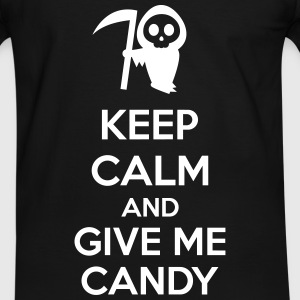 Keep Calm And Give Me Candy T-shirts - Kontrast-T-shirt herr
