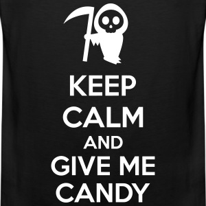 Keep Calm And Give Me Candy Tanktoppar - Premiumtanktopp herr