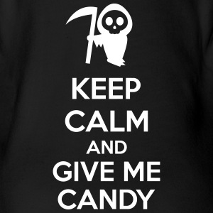Keep Calm And Give Me Candy Tee shirts - Body bébé bio manches courtes