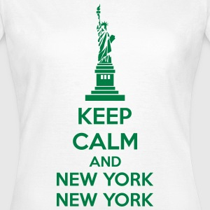 Keep Calm And New York New York T-shirts - Dame-T-shirt