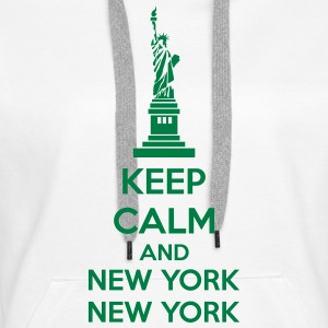 Keep Calm And New York New York Sweat-shirts - Sweat-shirt à capuche Premium pour femmes