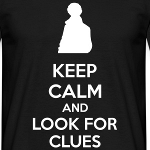 Keep Calm And Look For Clues Camisetas - Camiseta hombre