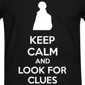 Keep Calm And Look For Clues T-shirts - Kontrast-T-shirt herr