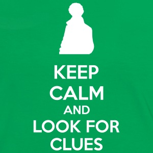 Keep Calm And Look For Clues Camisetas - Camiseta contraste mujer