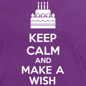 Keep Calm And Make A Wish T-skjorter - Kontrast-T-skjorte for kvinner
