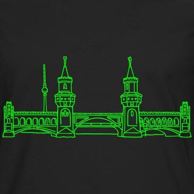 Oberbaumbrücke neon-grün Friedrichshain-Kreuzberg Berlin-T-shirt