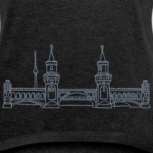 Oberbaum Bridge in Berlin T-Shirts - Women's T-shirt with rolled up sleeves
