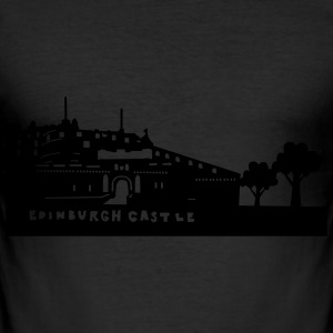 Edinburgh castle T-skjorter - Slim Fit T-skjorte for menn