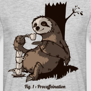Heather grey Procafeination T-Shirts - Men's T-Shirt