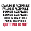 Crawling Is Acceptable  Tank Tops - Men's Premium Tank Top