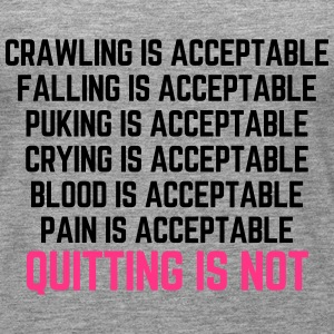 Crawling Is Acceptable  Tops - Women's Premium Tank Top