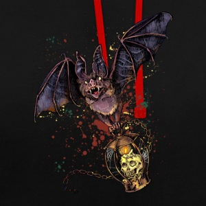 Scary Halloween bat - Contrast Colour Hoodie