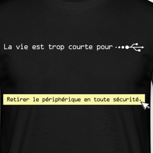 usb-ecriture-blanche Tee shirts - T-shirt Homme
