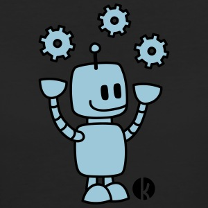 Happy Robot (2c) T-shirts - Vrouwen Bio-T-shirt