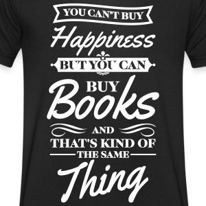 You cant buy happiness but you can buy books T-shirts - Herre T-shirt med V-udskæring