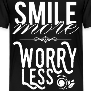 Smile more worry less T-shirts - Premium-T-shirt tonåring