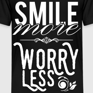 Smile more worry less Shirts - Kids' Premium T-Shirt