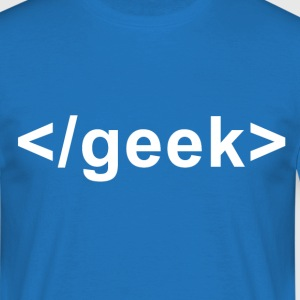 Geek Closing Tag - Men's T-Shirt