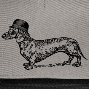 Graphite/black Dog with hat Caps & Hats - Snapback Cap