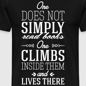 One does not simply read books T-Shirts - Men's Premium T-Shirt