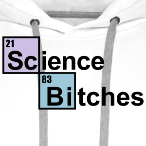 Science Bitches periodiek  Sweaters - Mannen Premium hoodie