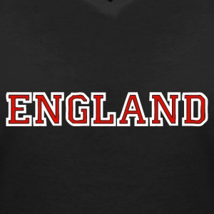 England T-Shirts - Women's V-Neck T-Shirt
