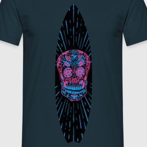 Surfboard Flower Skull - Men's T-Shirt