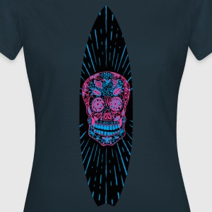 Surfboard Flower Skull - Women's T-Shirt