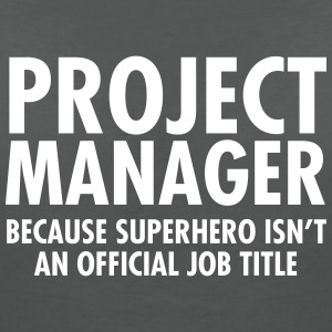 Project Manager - Superhero T-Shirts - Women's V-Neck T-Shirt