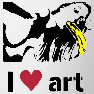 I love art stencil colored Mugs & Drinkware - Mug
