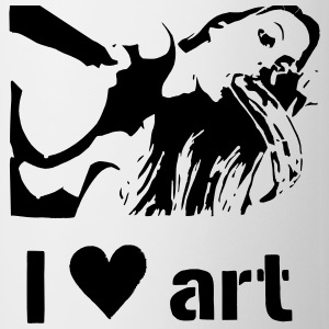 I love art stencil B/W Mugs & Drinkware - Mug