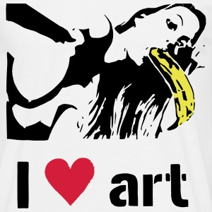 I love art stencil colored T-Shirts - Men's T-Shirt