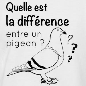 T-Shirt Homme Pigeon - T-shirt baseball manches courtes Homme
