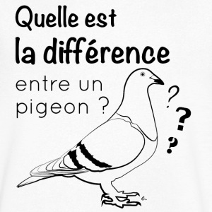 T-Shirt Homme Pigeon - T-shirt Homme col V