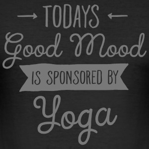 Good Mood Sponsored By Yoga T-Shirts - Men's Slim Fit T-Shirt