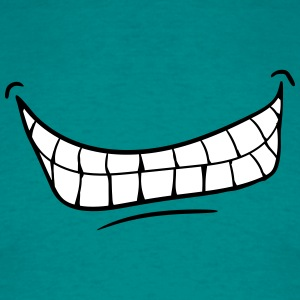 mouth teeth grin evil laugh T-Shirts - Men's T-Shirt