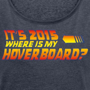 Navy heather hoverboard T-Shirts - Women's T-shirt with rolled up sleeves