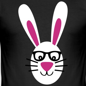 Rabbit with glasses T-Shirts - Men's Slim Fit T-Shirt