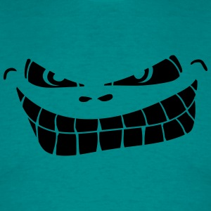 evil grinning smiley face T-Shirts - Men's T-Shirt
