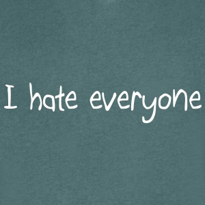I hate everyone T-shirts - Mannen T-shirt met V-hals