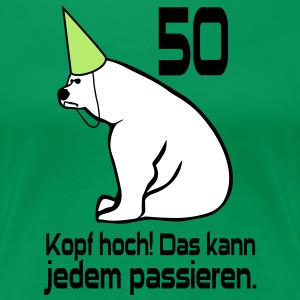 """Geburtstag T-Shirts mit """"50 Geburtstag Kopf hoch"""""""