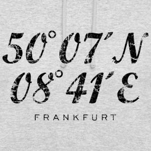 Frankfurt am Main Koordinaten Vintage Schwarz