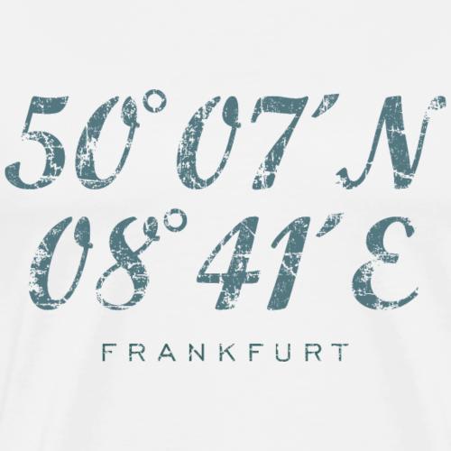 Frankfurt am Main Koordinaten Vintage Blaugrün