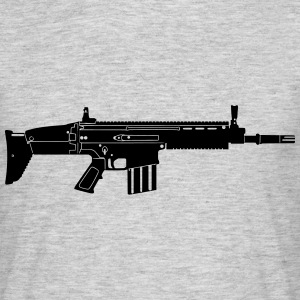 Scar Weapon Military Rifle T-Shirts - Men's T-Shirt