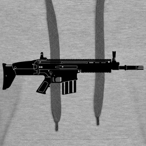 Scar Weapon Military Rifle Bluzy - Bluza damska Premium z kapturem