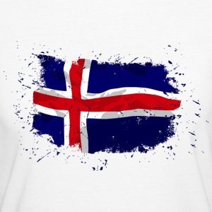 Iceland Flag - Vintage Look T-Shirts - Frauen Bio-T-Shirt