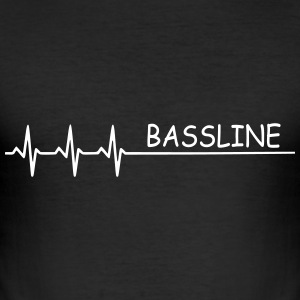 Bass  Bassline   - Männer Slim Fit T-Shirt