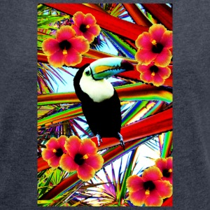 Toucan  T-Shirts - Women's T-shirt with rolled up sleeves