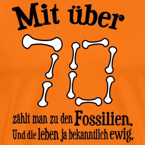 """Geburtstag T-Shirts mit """"Über 70 Jahre"""""""